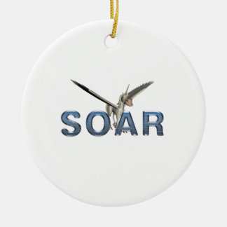 TEE Soar Round Ceramic Decoration