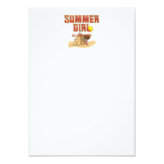 TEE Summer Girl Card