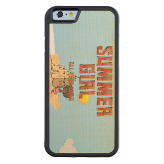 TEE Summer Girl Carved Maple iPhone 6 Bumper Case
