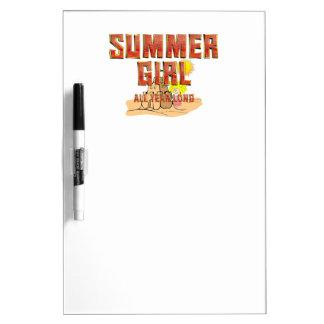 TEE Summer Girl Dry Erase Board