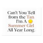 TEE Summer Girl Tan Business Card Template
