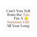 TEE Summer Girl Tan Pack Of Chubby Business Cards