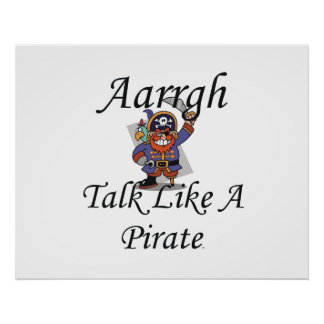 TEE Talk Like A Pirate Poster