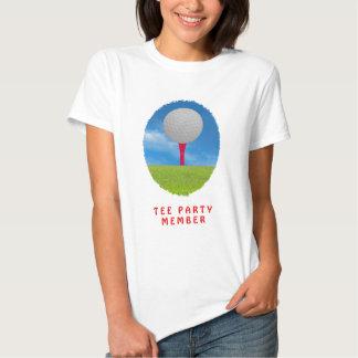 """Tee"" Tea Party Member Spoof T-Shirts"