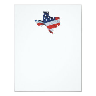 TEE Texas Patriot 11 Cm X 14 Cm Invitation Card