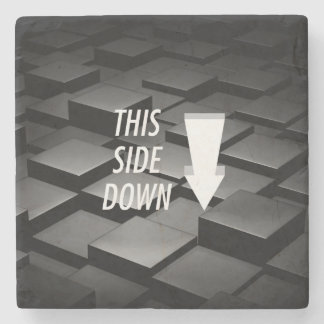 TEE This Side Down Stone Coaster
