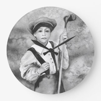 TEE TIME OLD TIME GOLF CADDY CLOCK