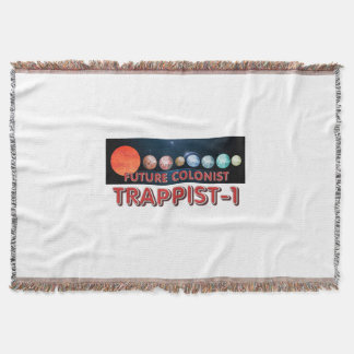 TEE Trappist-1 Colonist Throw Blanket