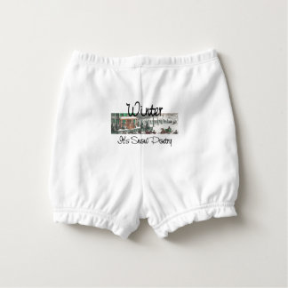 TEE Winter Poetry Nappy Cover