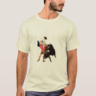 Tee with Bullfighting Print