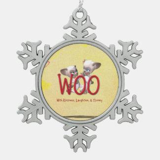 TEE Woo Cute Pewter Snowflake Decoration