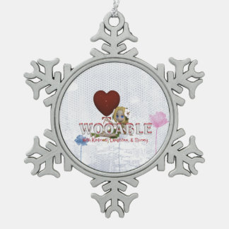 TEE Wooable Love Pewter Snowflake Decoration
