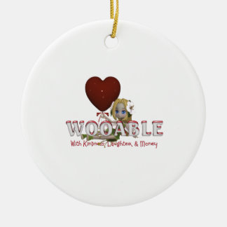 TEE Wooable Love Round Ceramic Decoration