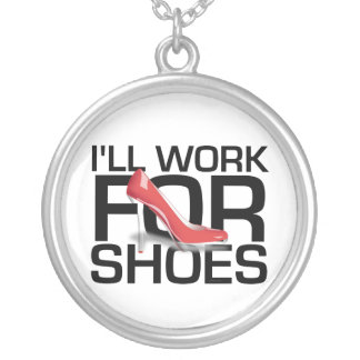 TEE Work for Shoes Silver Plated Necklace
