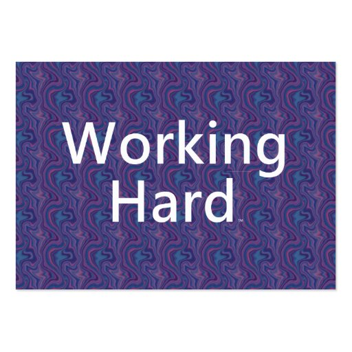TEE Working Hard Business Card Template