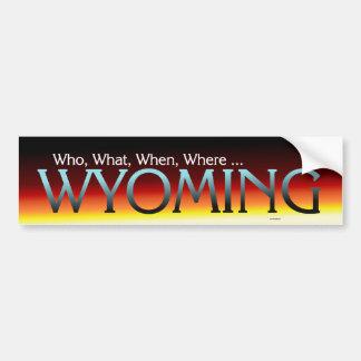 TEE Wyoming Bumper Sticker