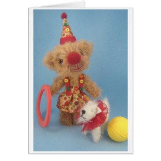 Teehee & her dog, Popcorn Card