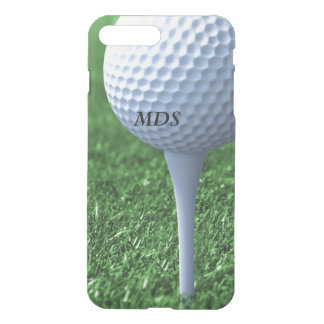 Teeing Off Golf Ball Monogram Clear iPhone 7 Plus Case