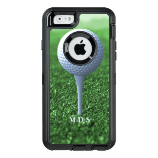 Teeing Off Golfer's Green Personalized OtterBox Defender iPhone Case