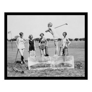 Teeing Off Ice Golf 1926 Poster