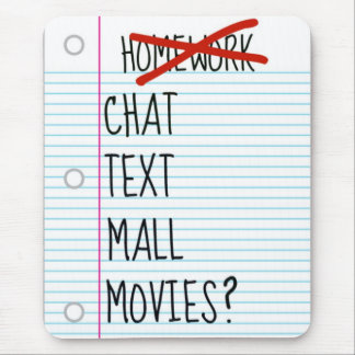 Teen After School Plans Mousepads