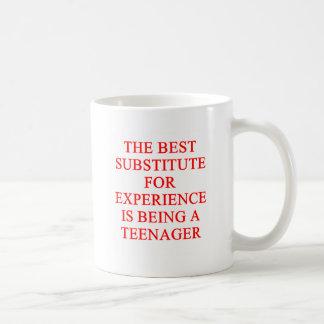 TEEN ager joke Basic White Mug