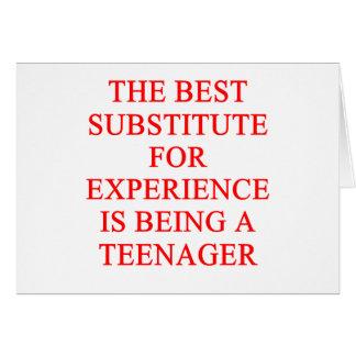 TEEN ager joke Greeting Card