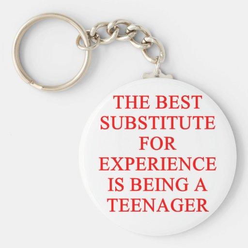TEEN ager joke Keychains