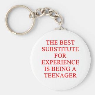 TEEN ager joke Basic Round Button Key Ring