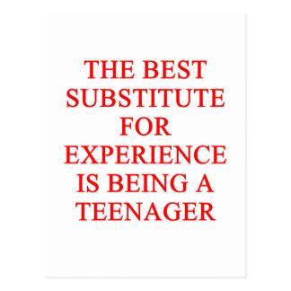 TEEN ager joke Postcard
