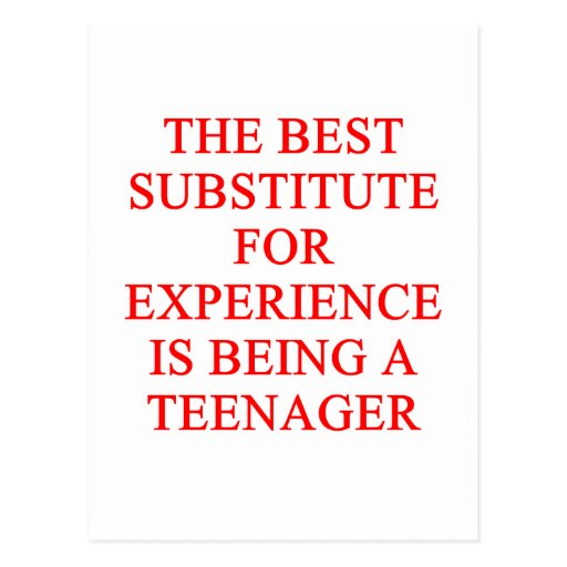 TEEN ager joke Postcards
