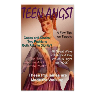 Teen Angst Magazine Cover Poster