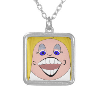Teen Blonde T-moji Square Pendant Necklace