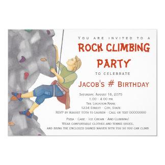 Teen Boy Rock Climbing Birthday Party Invitation