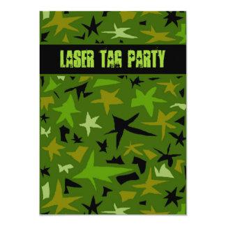 Teen Boys Birthday Camo Stars Party Card