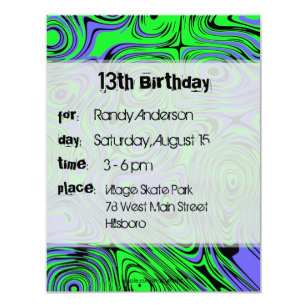 Teen Boy Birthday Invitations Announcements Zazzlecomau