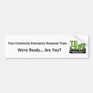 Teen CERT Bumper Sticker
