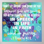 Teen Christian Purity bible verse Poster