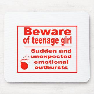 teen girl mouse mat