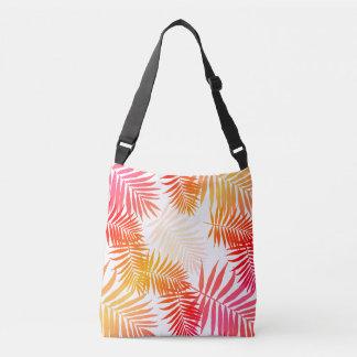 Teen Girls Palm Tree Leaf Trendy Summer Fashion Crossbody Bag