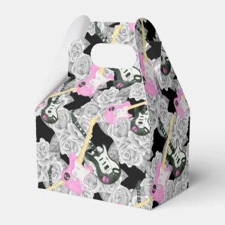 Teen girls rock roll rose party favor box