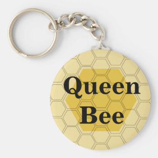 Teen Queen Bee Honeycomb Customized Key Chain