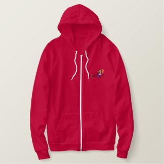 Teen She-devil Embroidered Hooded Sweatshirts