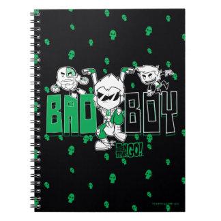 "Teen Titans Go! | ""Bad Boy"" Robin, Cyborg, & BB Spiral Notebook"