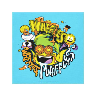 Teen Titans Go!   Beast Boy Waffles Canvas Print