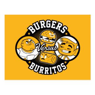 Teen Titans Go! | Burgers Versus Burritos Postcard