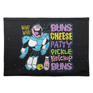 Teen Titans Go! | Cyborg Burger Rap Placemat