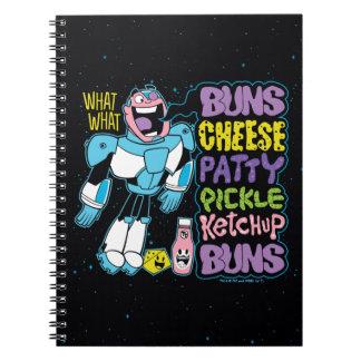 Teen Titans Go! | Cyborg Burger Rap Spiral Notebook