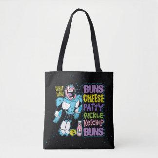 Teen Titans Go! | Cyborg Burger Rap Tote Bag