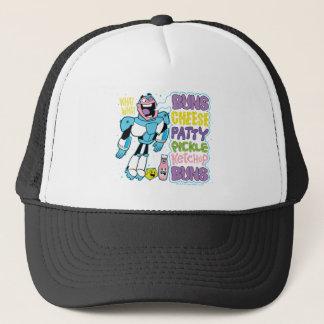 Teen Titans Go! | Cyborg Burger Rap Trucker Hat